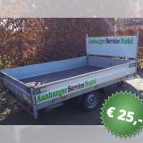 Plateauwagen enkelasser EP1